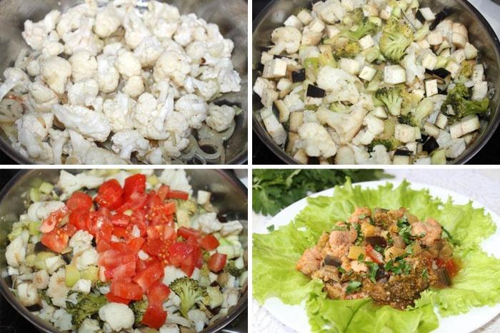 Как приготовить замороженную цветную капусту с другими овощами