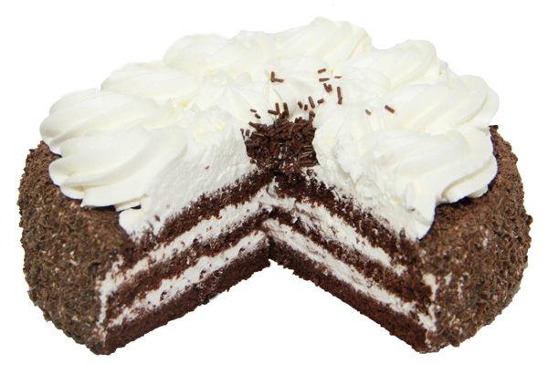 Торт негр в пене с клюквой