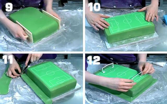 Как сделать ворота для торта футбольное поле 481