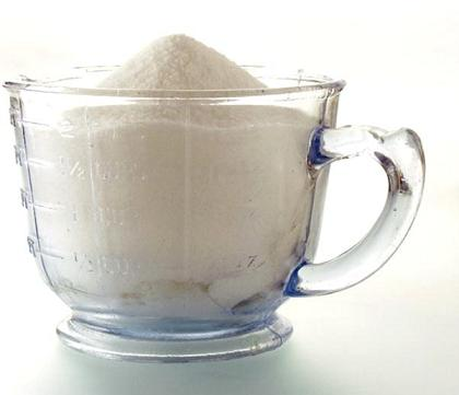 How to find out how many grams in a faceted glass of flour or other products