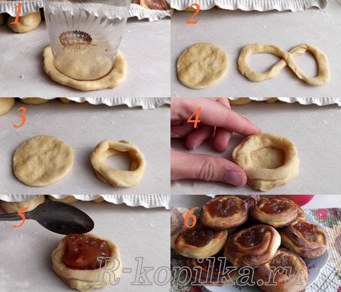 Как красиво сделать плюшки фото пошагово