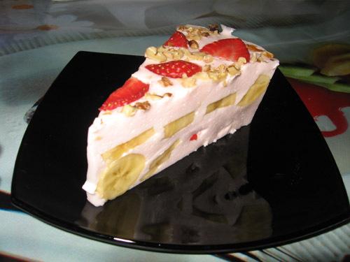 десерт с желатином и сметаной