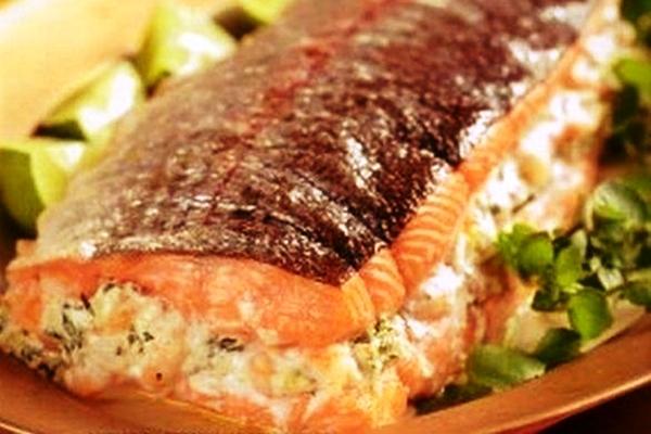Запечь в духовке лосося рецепт пошагово